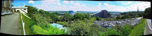 八幡山曲輪からの眺望
