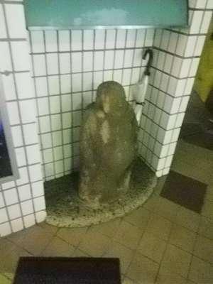 品川駅港南口の地蔵
