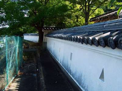 三木城址 模擬塀