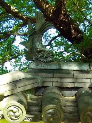三木城址 模擬塀 鯱