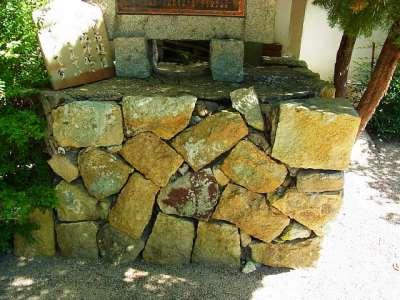 雲龍寺石垣(三木城外堀の石垣を移築したものだという)