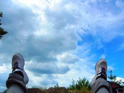 山崎山城 本丸から見上げた空
