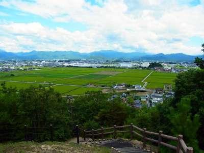 山崎山城 山頂からの眺望 下街道