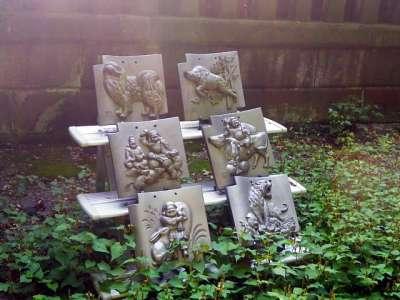 板橋双葉氷川神社 瓦の展示