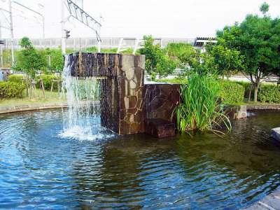近江鉄道本線 尼子駅 噴水